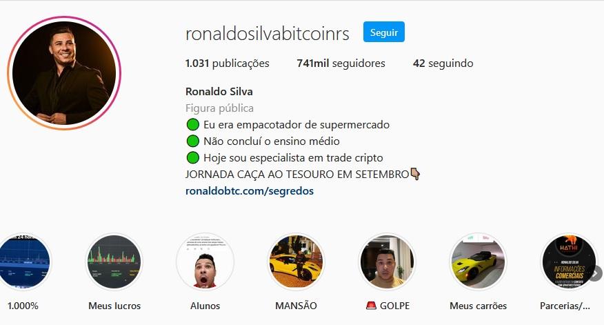 Ronaldo silva, ou Ronaldo bitcoin, é o idealizador do curso Segredos do Bitcoin é um cara que tem uma história incrível, e passou de empacotador à milionário do Bitcoin, ele desvendou os segredos do Bitcoin e como tudo funciona, ele realmente pode te ensinar também.